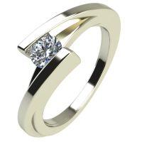 Годежен Пръстен бяло злато с диамант Date 0,25 ct. 2182