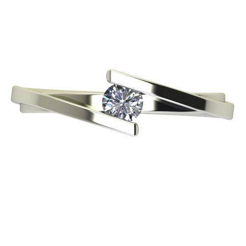 Годежен Пръстен бяло злато с диамант Date 0,25 ct. 2182 a