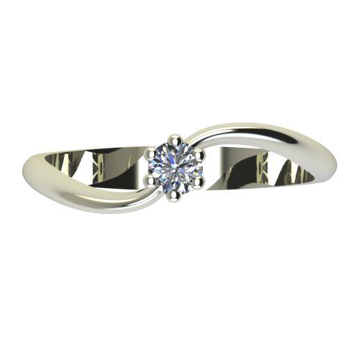 Годежен Пръстен бяло злато с диамант Eight 0,04 ct. 2207 a