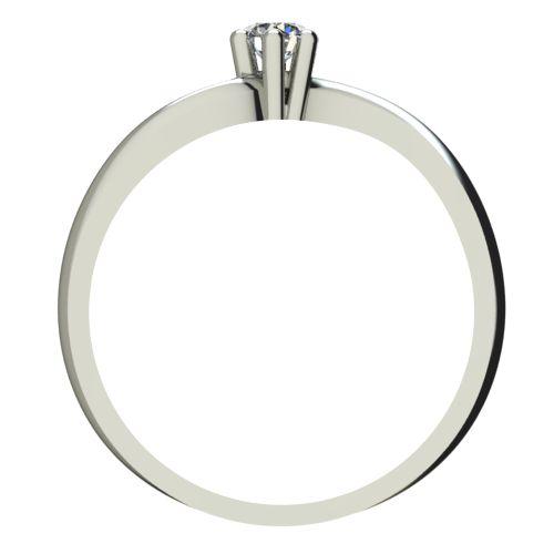 Годежен Пръстен бяло злато с диамант Eight 0,04 ct. 2207 b