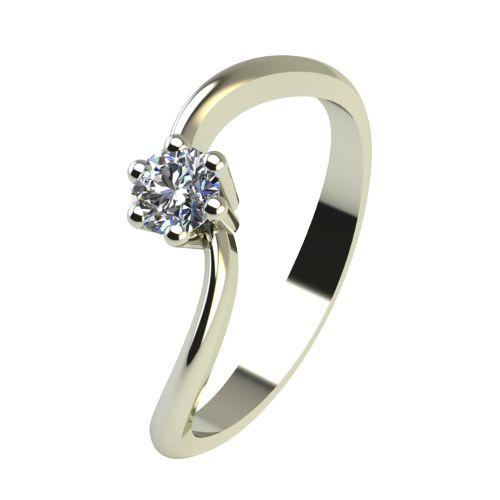 Годежен Пръстен бяло злато с диамант Eight 0,04 ct. 2207