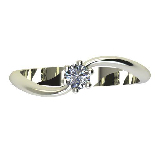 Годежен Пръстен бяло злато с диамант Eight 0,07 ct. 2208 a