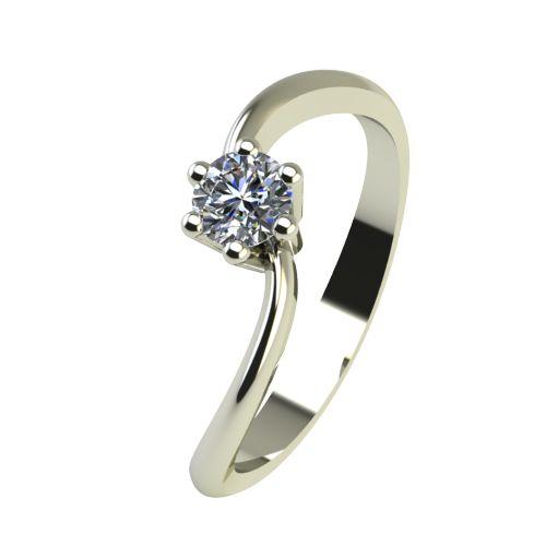 Годежен Пръстен бяло злато с диамант Eight 0,07 ct. 2208