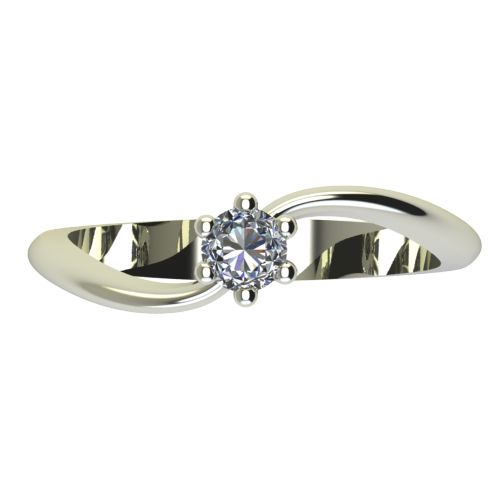 Годежен Пръстен бяло злато с диамант Eight 0,12 ct. 2209 a