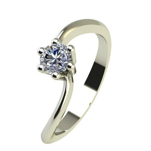 Годежен Пръстен бяло злато с диамант Eight 0,12 ct. 2209
