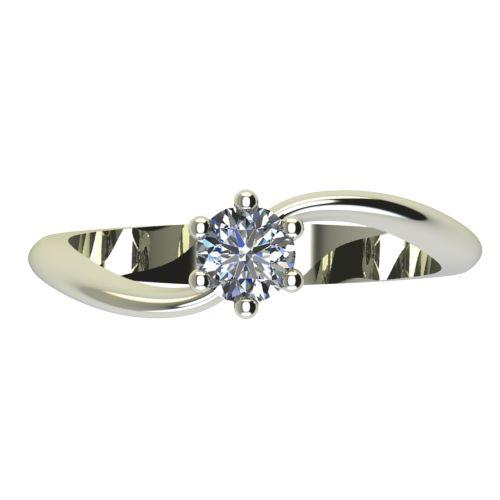 Годежен Пръстен бяло злато с диамант Eight 0,17 ct. 2210 a