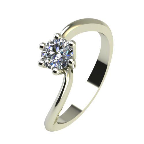 Годежен Пръстен бяло злато с диамант Eight 0,17 ct. 2210