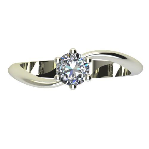 Годежен Пръстен бяло злато с диамант Eight 0,25 ct. 2211 a