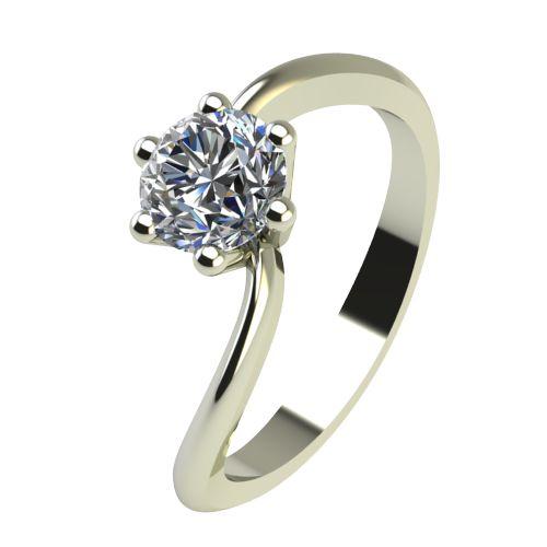 Годежен Пръстен бяло злато с диамант Eight 0,25 ct. 2211
