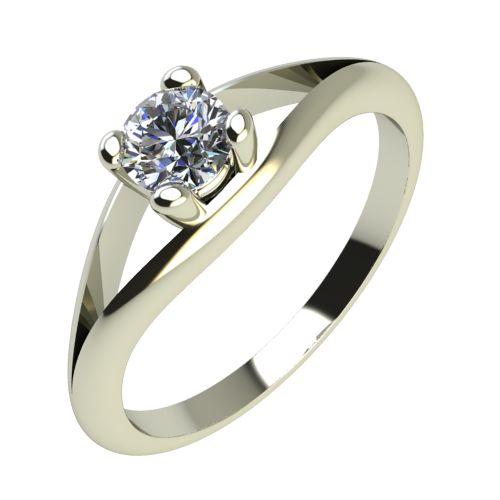Годежен Пръстен бяло злато с диамант Eyes 0,04 ct. 2188