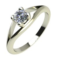 Годежен Пръстен бяло злато с диамант Eyes 0,07 ct. 2189