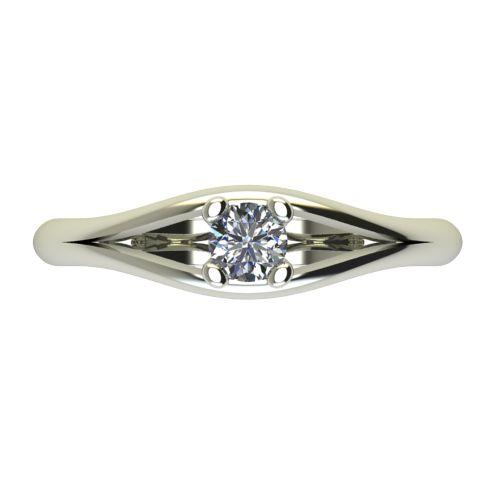 Годежен Пръстен бяло злато с диамант Eyes 0,07 ct. 2189 a