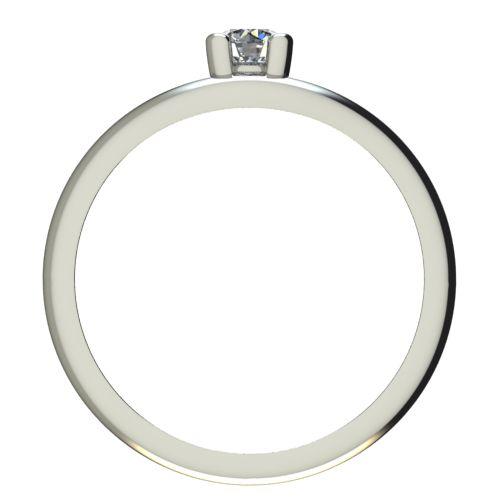 Годежен Пръстен бяло злато с диамант Eyes 0,07 ct. 2189 b