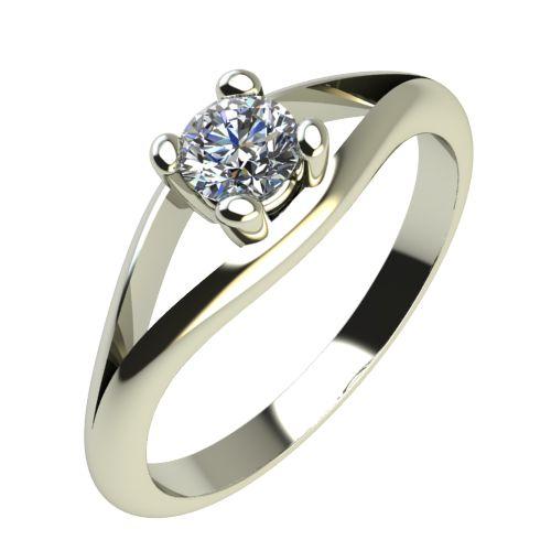 Годежен Пръстен бяло злато с диамант Eyes 0,12 ct. 2190