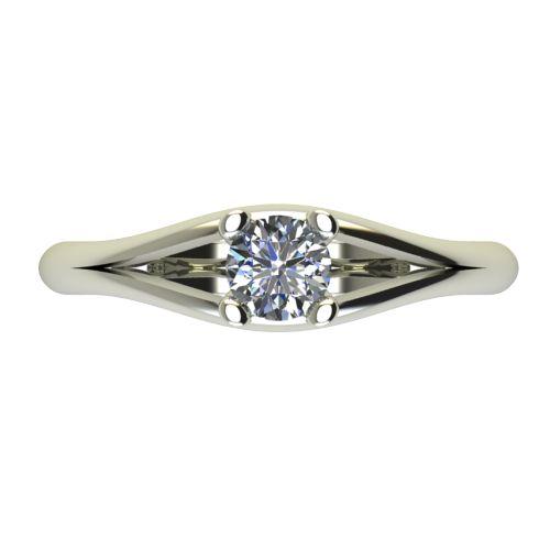 Годежен Пръстен бяло злато с диамант Eyes 0,17 ct. 2191 a