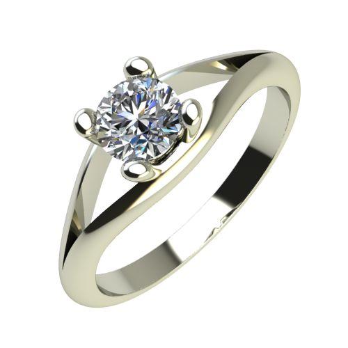 Годежен Пръстен бяло злато с диамант Eyes 0,17 ct. 2191
