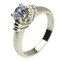 Годежен Пръстен бяло злато с диамант Heart 0,25 ct. 2213