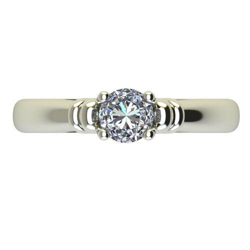 Годежен Пръстен бяло злато с диамант Heart 0,25 ct. 2213 a