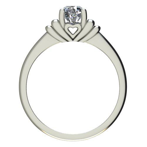 Годежен Пръстен бяло злато с диамант Heart 0,25 ct. 2213 b