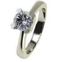 Годежен Пръстен бяло злато с диамант Hearts 0,25 ct. 2202