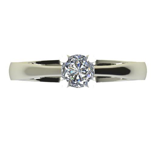 Годежен Пръстен бяло злато с диамант Hearts 0,25 ct. 2202 a