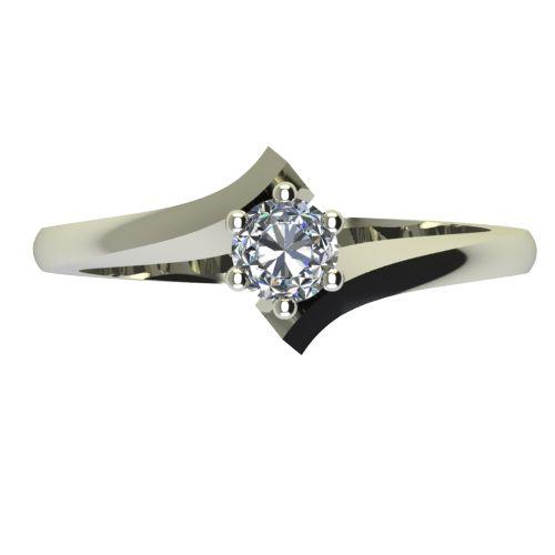Годежен Пръстен бяло злато с диамант Open 0,25 ct. 2187 a