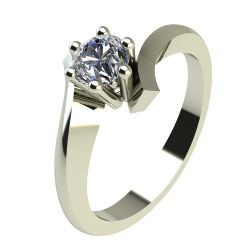 Годежен Пръстен бяло злато с диамант Open 0,25 ct. 2187