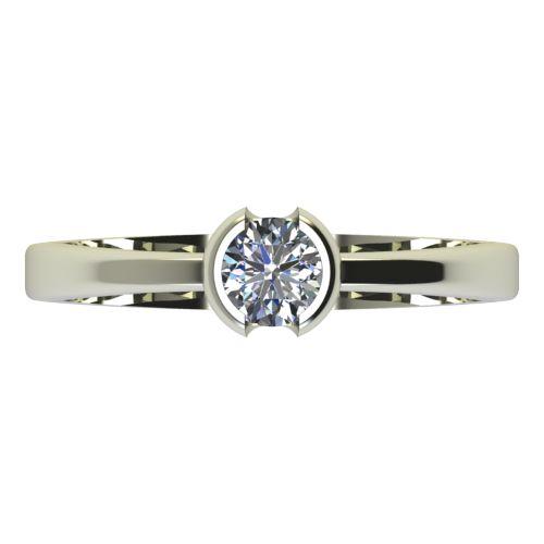 Годежен Пръстен бяло злато с диамант Safe 0,17 ct. 2184 a