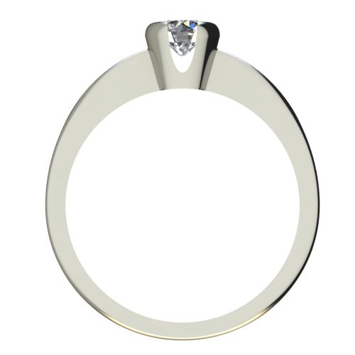 Годежен Пръстен бяло злато с диамант Safe 0,17 ct. 2184 b