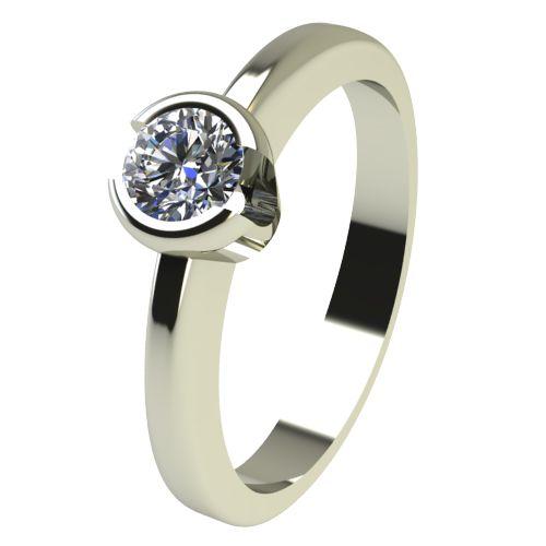 Годежен Пръстен бяло злато с диамант Safe 0,17 ct. 2184