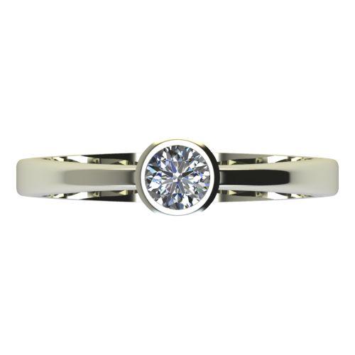 Годежен Пръстен бяло злато с диамант Safe 0,17 ct. 2193 a