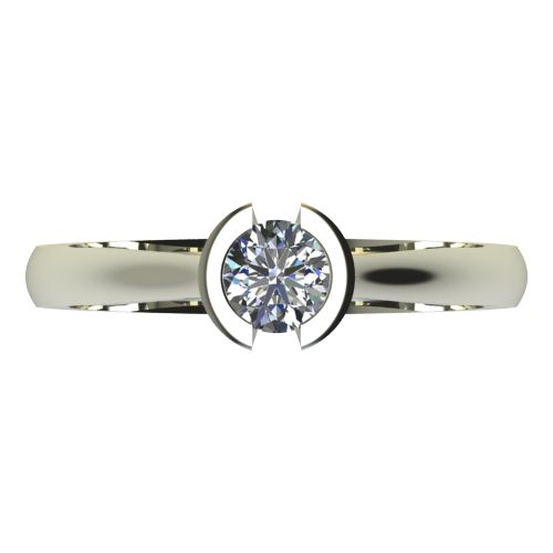 Годежен Пръстен бяло злато с диамант Safe 0,25 ct. 2181 a