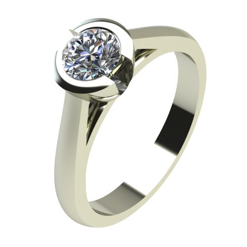 Годежен Пръстен бяло злато с диамант Safe 0,25 ct. 2181