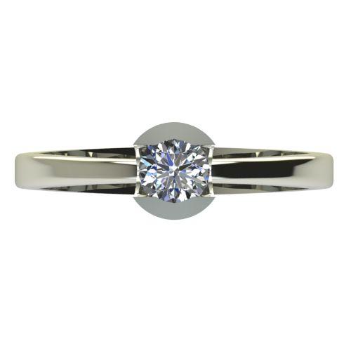 Годежен Пръстен бяло злато с диамант Safe 0,25 ct. 2183 a