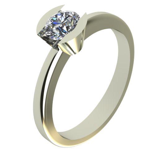 Годежен Пръстен бяло злато с диамант Safe 0,25 ct. 2183