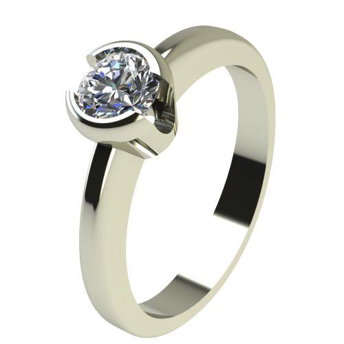 Годежен Пръстен бяло злато с диамант Safe 0,25 ct. 2185