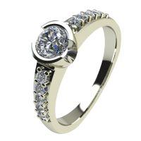 Годежен Пръстен бяло злато с диамант Safe 0,40 ct. 2192