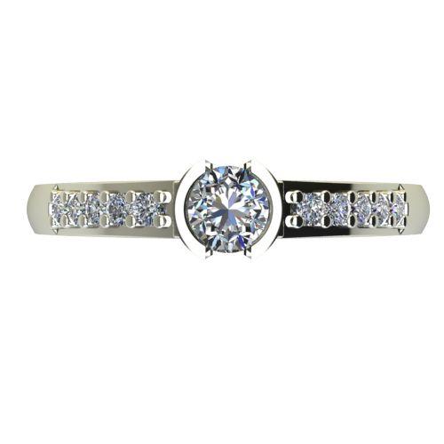 Годежен Пръстен бяло злато с диамант Safe 0,40 ct. 2192 a
