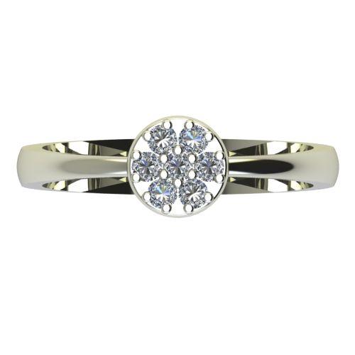 Годежен Пръстен бяло злато с диамант Snowy 0,14 ct. 2212 a