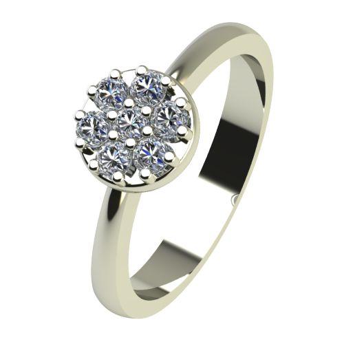 Годежен Пръстен бяло злато с диамант Snowy 0,14 ct. 2212