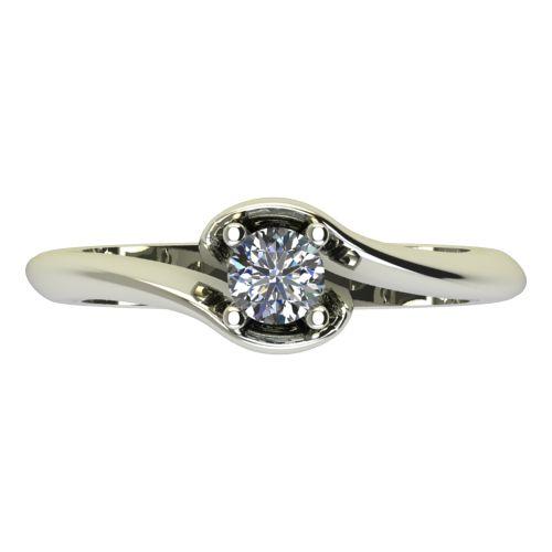 Годежен Пръстен бяло злато с диамант Unity 0,17 ct. 2203 a