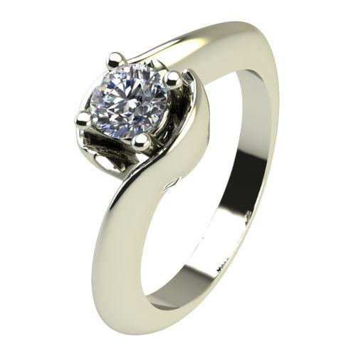 Годежен Пръстен бяло злато с диамант Unity 0,17 ct. 2203