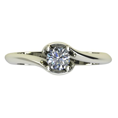 Годежен Пръстен бяло злато с диамант Unity 0,25 ct. 2204 a