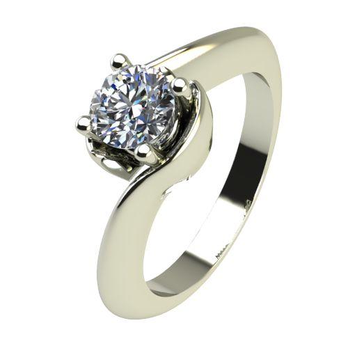 Годежен Пръстен бяло злато с диамант Unity 0,25 ct. 2204