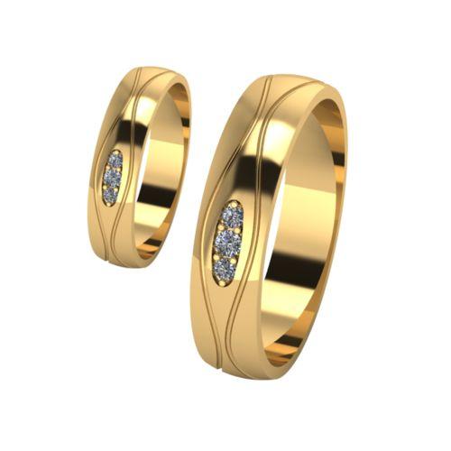 Брачни Халки жълто злато модел Shels кат.номер 7186
