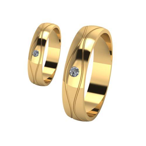 Брачни Халки жълто злато модел Shels кат.номер 7192