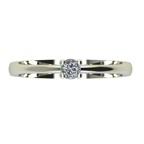 Годежен Пръстен бяло злато с диамант Cante 0,04 ct. 2227 a