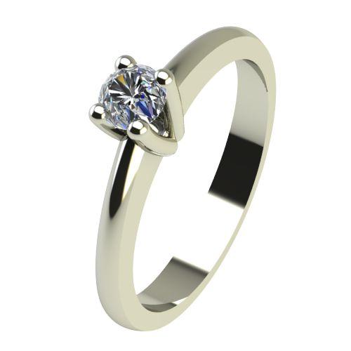 Годежен Пръстен бяло злато с диамант Cante 0,04 ct. 2227