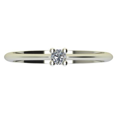 Годежен Пръстен бяло злато с диамант Cante 0,04 ct. 2245 a
