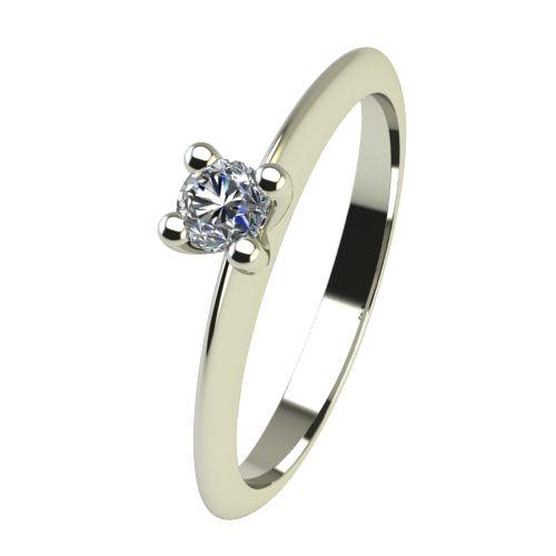 Годежен Пръстен бяло злато с диамант Cante 0,04 ct. 2245